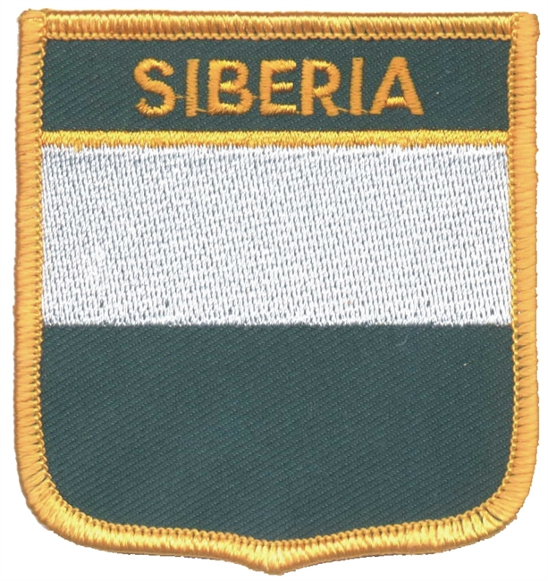 7385 - SIBERIA medium flag shield souvenir embroidered patch