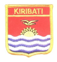 7386 - KIRIBATI medium flag shield souvenir embroidered patch