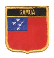 7392 - SAMOA medium flag shield souvenir embroidered patch