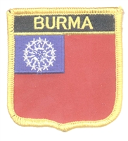 7394 - BURMA medium flag shield souvenir embroidered patch