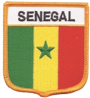 7395 - SENEGAL medium flag shield souvenir embroidered patch