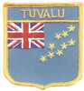 7397 - TUVALU medium flag shield embroidered patch