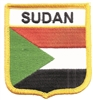 SUDAN medium flag shield embroidered patch.