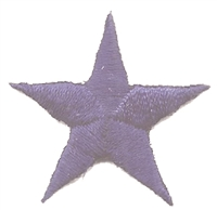 "7401 - 1.25"" embroidered star patch. Measured tip of one point to the tip of the point across. Navy Blue, Royal Blue, Gold, Metallic Gold, Red, Metallic Silver, or White. Patches have an iron-on backing & are carded for a display rack for retailers."