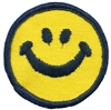 "7429 - smile face, 2"" - novelty embroidered patch"