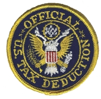 OFFICIAL U.S. TAX DEDUCTION souvenir embroidered patch