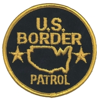 U.S. BORDER PATROL novelty or souvenir embroidered patch