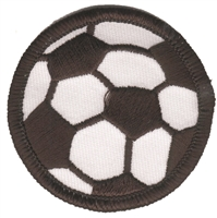 "7952 - 2"" soccer ball embroidered patch."