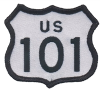 8101 - US 101 souvenir embroidered patch