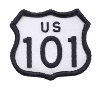 "US 101 - 2"" tall souvenir embroidered patch"