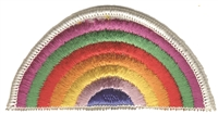 rainbow sew on embroidered patch.