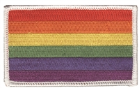 rainbow gay pride flag embroidered patch - 8213-39
