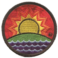 SOLAR FUTURE ® rainbow embroidered patch.