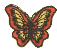 Orange butterfly sew on patch.