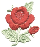 rose & petal aetz embroidered applique patch