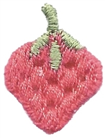 strawberry embroidered applique (patch)