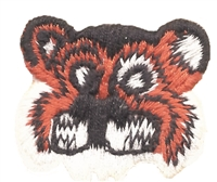 8469 - tiger face aetz embroidered sew on patch.