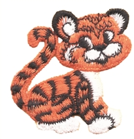 8470 - Tiger cub embroidered aetz applique patch