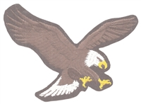 eagle on black - right side souvenir embroidered patch