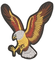 "8610-L - eagle 15"" tall x 14.5"" wide, souvenir embroidered patch"