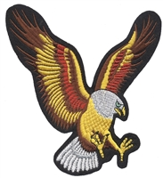 "8610-R - eagle 15"" tall x 14.5"" wide, souvenir embroidered patch"