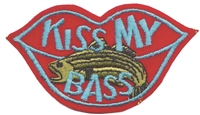 8754 - KISS MY BASS novelty embroidered patch