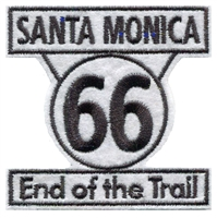 9568 - SANTA MONICA End of the Trail 66 sign souvenir embroidered patch