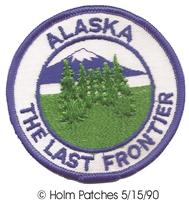 AK-48 - ALASKA THE LAST FRONTIER souvenir embroidered patch, AK