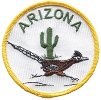 AZ-49 - ARIZONA roadrunner souvenir embroidered patch, AZ, ARIZ