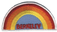 BERKELEY rainbow embroidered souvenir patch
