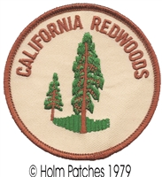 CA-08-17 - CALIFORNIA REDWOODS brown souvenir embroidered patch
