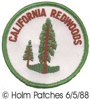 CA-08-50/2.5 - CALIFORNIA REDWOODS souvenir embroidered patch