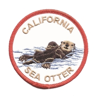 CALIFORNIA SEA OTTER souvenir embroidered patch