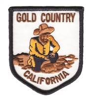 CALIFORNIA GOLD COUNTRY souvenir embroidered patch