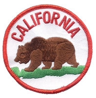 CA-40 - CALIFORNIA bear uniform or souvenir embroidered patch