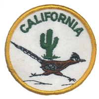 CALIFORNIA roadrunner souvenir embroidered patch