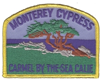 MONTEREY CYPRESS souvenir embroidered patch