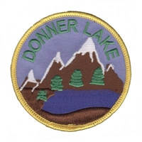 DONNER-42 - DONNER LAKE souvenir embroidered patch