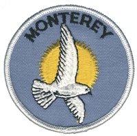 MONTEREY-22 - MONTEREY seagull souvenir embroidered patch