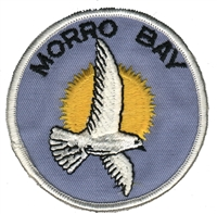MORRO BAY seagull souvenir embroidered patch