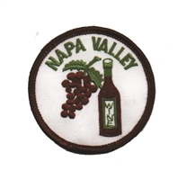 NAPA-37 - NAPA VALLEY wine bottle & grapes souvenir embroidered patch