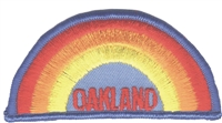 OAKLAND rainbow souvenir embroidered patch