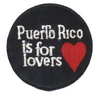 PR-01 - PUERTO RICO IS FOR LOVERS souvenir embroidered patch