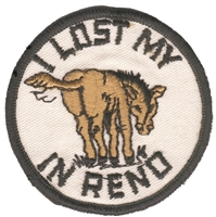 RENO-19 - RENO - I LOST MY * IN RENO souvenir embroidered patch