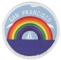 S.F.-35 - SAN FRANCISCO rainbow sailboat souvenir embroidered patch