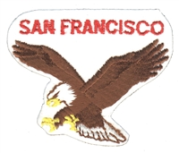 S.F.-51-39 - SAN FRANCISCO eagle souvenir embroidered patch