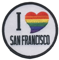 S.F.02/RB - I (rainbow heart) SAN FRANCISCO souvenir embroidered patch