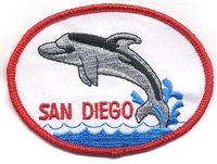 SAN DIEGO-28 - SAN DIEGO dolphin souvenir embroidered patch