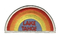 TAHOE -04 - LAKE TAHOE rainbow souvenir embroidered patch