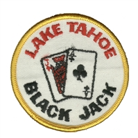 TAHOE - 17 - LAKE TAHOE blackjack souvenir embroidered patch